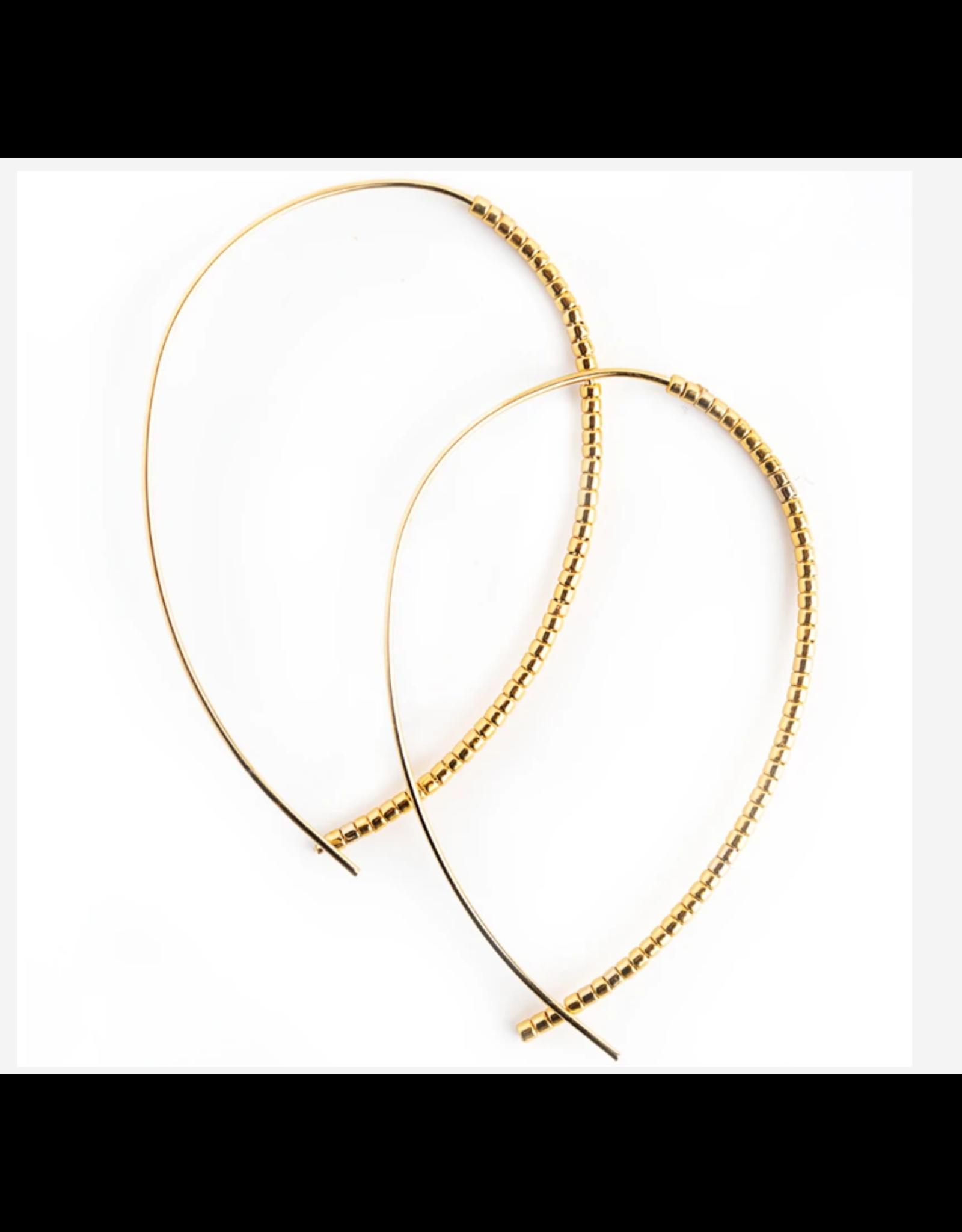 L&E Norah Earrings, gold gold