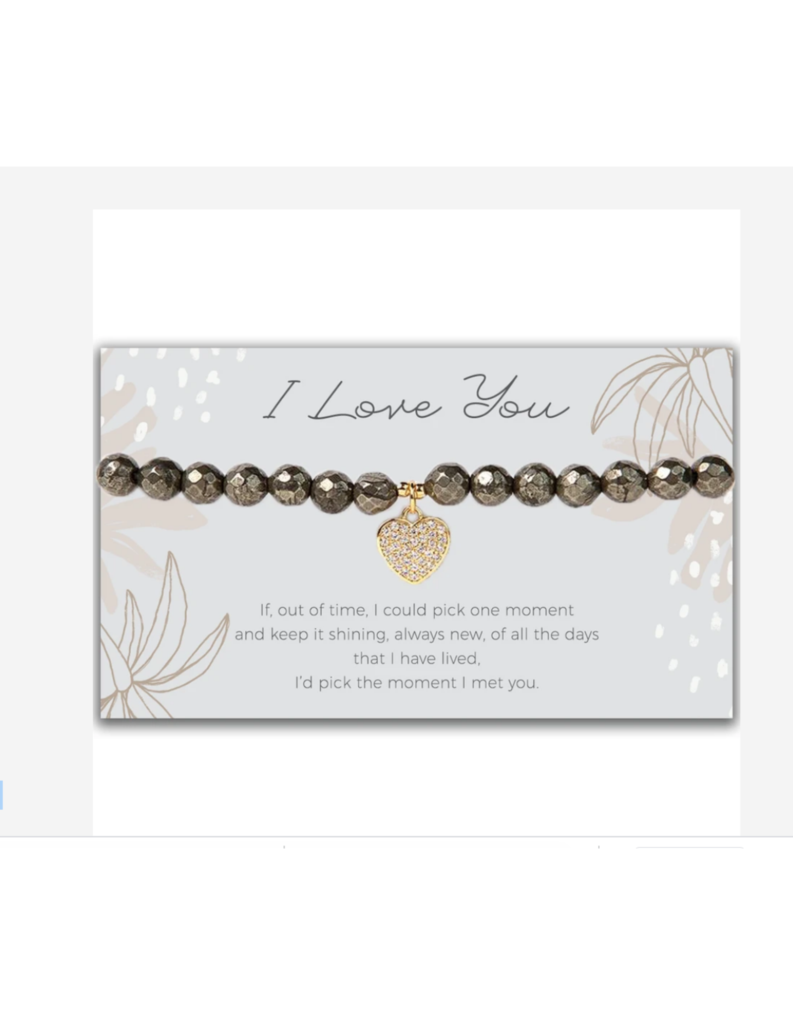 L&E Token Stretch Bracelet, Heart