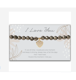 L&E Token Stretch Bracelet, Heart