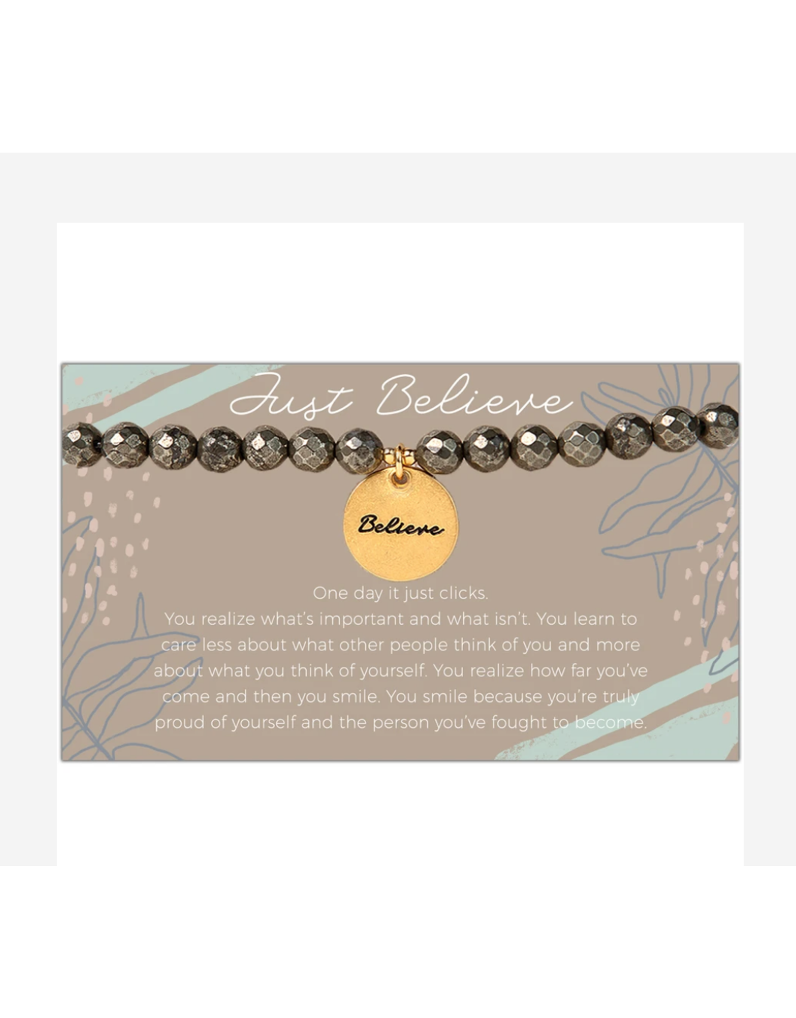 L&E Token Stretch Bracelet, Believe