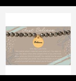 L&E Token Stretch Bracelet, Believe