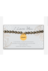 L&E Token Stretch Bracelet, Love
