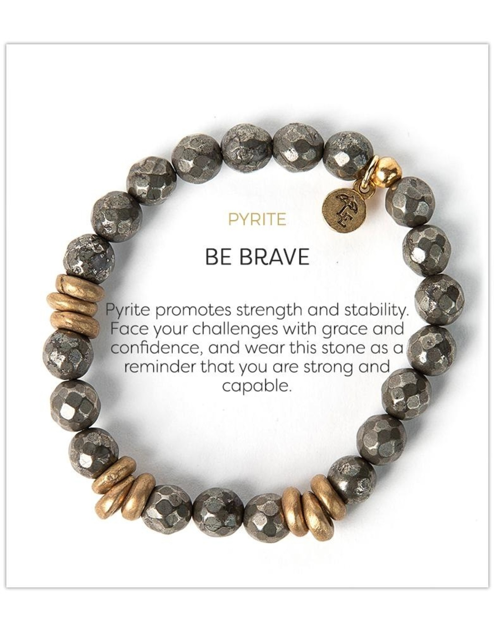 L&E Gemstone Bracelet, pyrite, 8mm