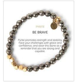 L&E Gemstone Bracelet, pyrite, 6mm