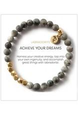 L&E Gemstone Bracelet, labradorite, 6mm