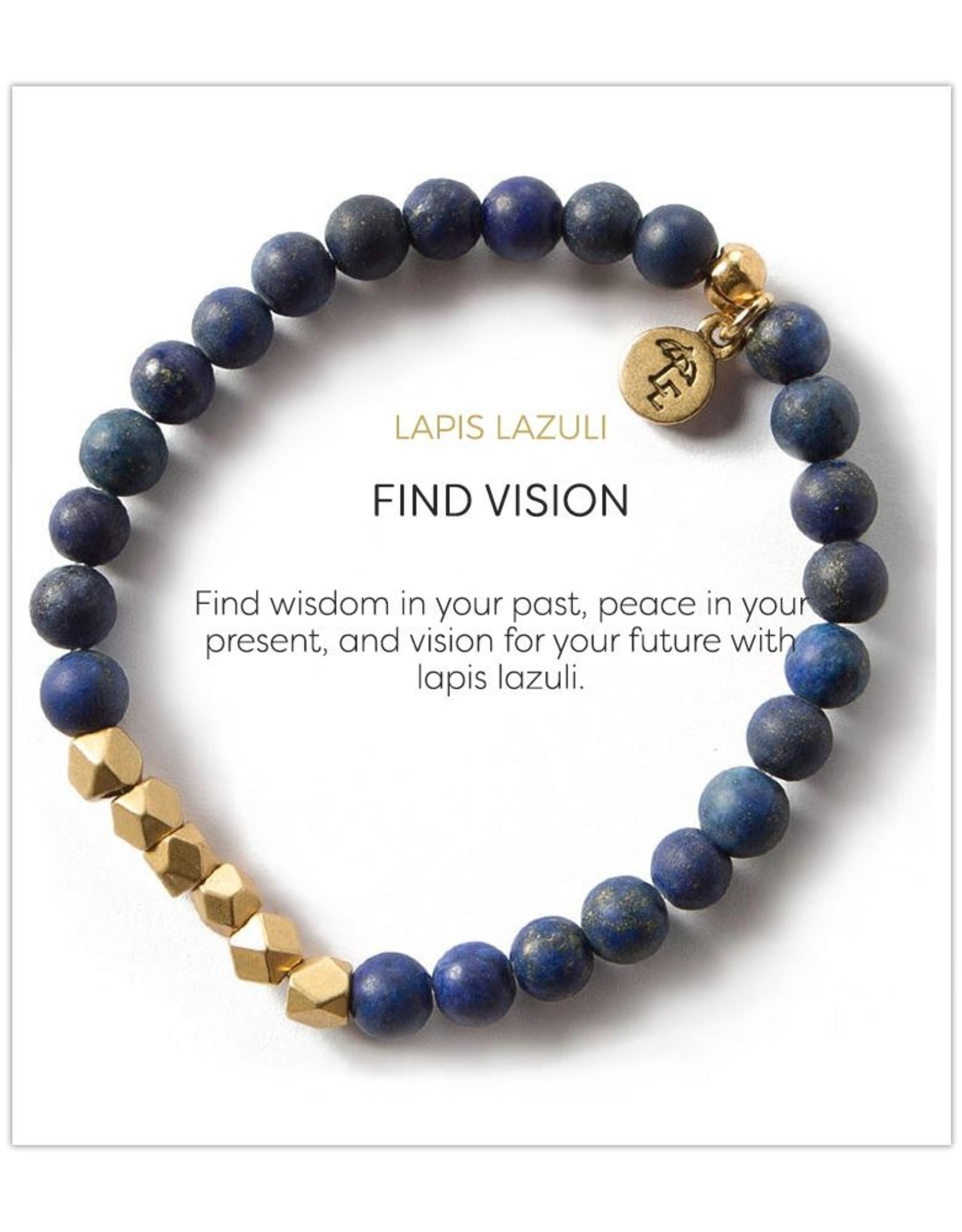 L&E Gemstone Bracelet, lapis lazuli, 6 mm