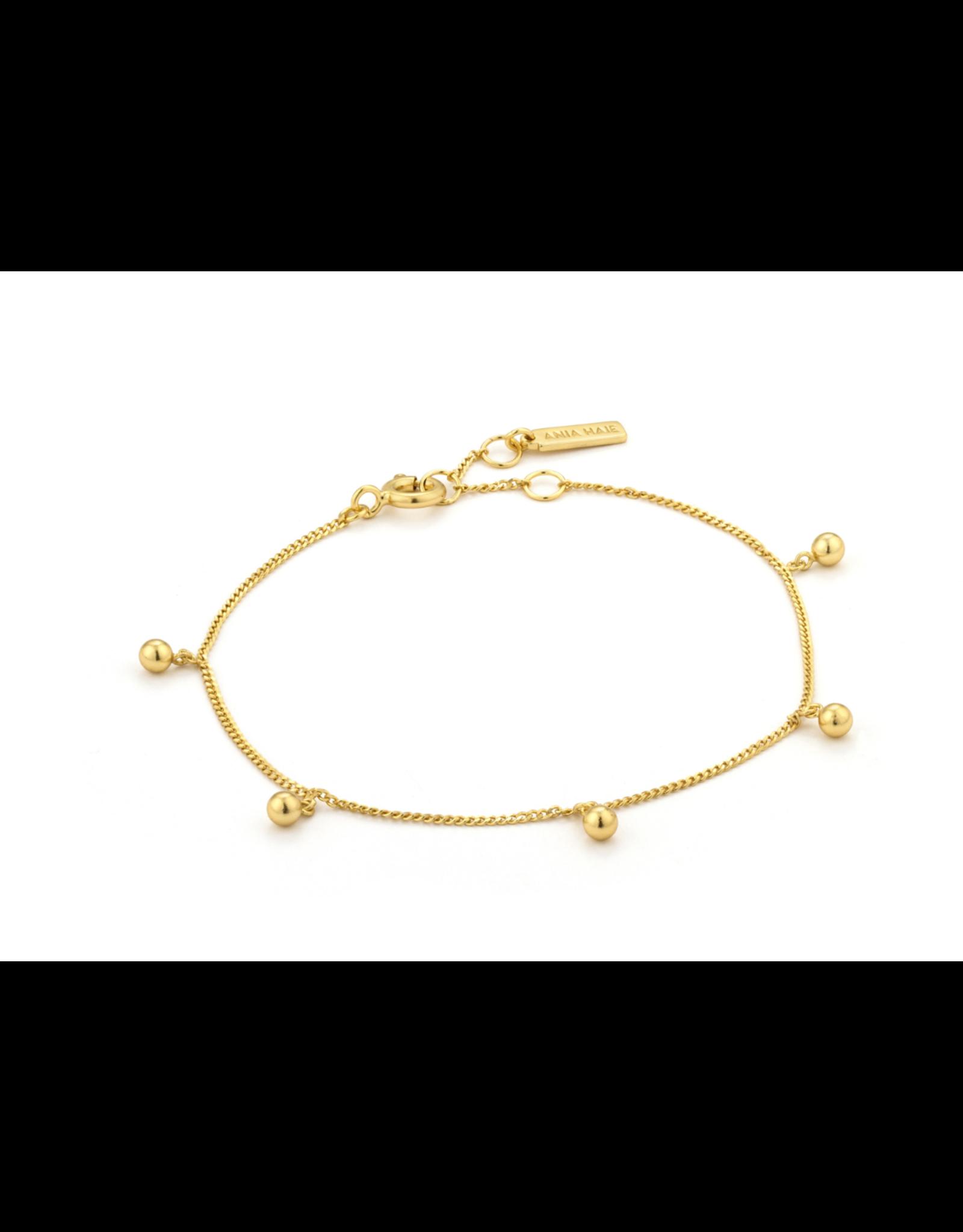 Orbit Drop Balls Bracelet, gold