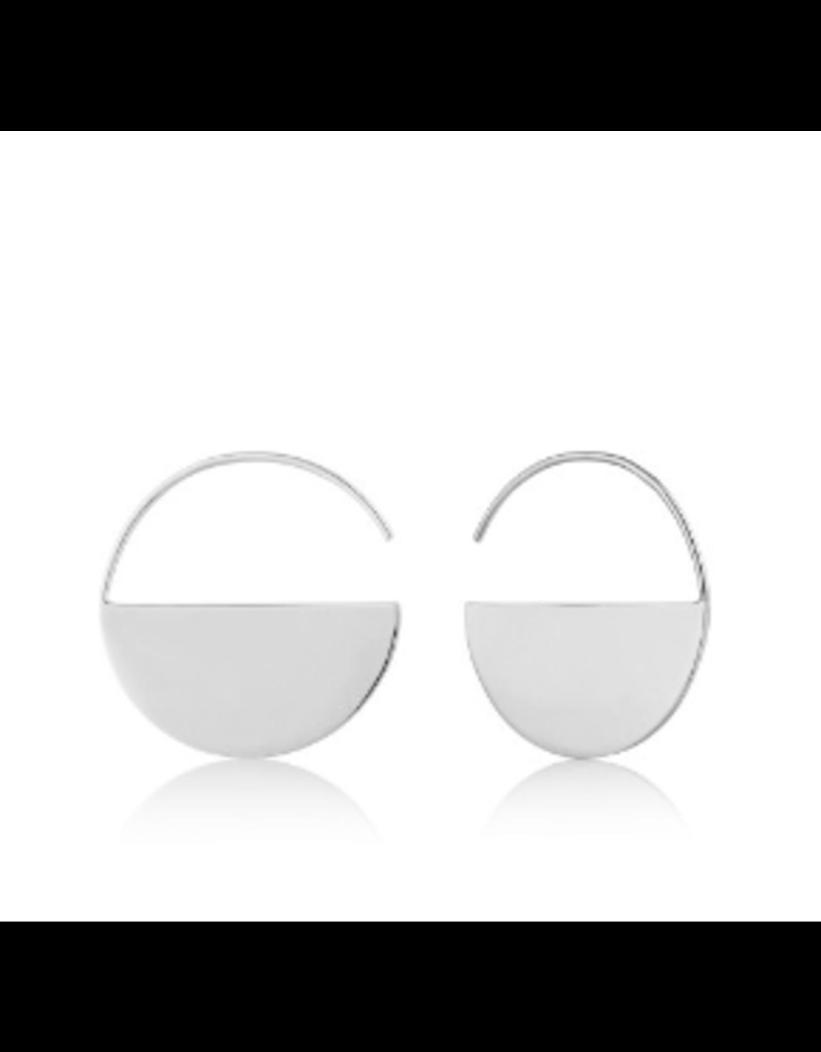 Ania Haie Geometry Hoop Earrings, silver