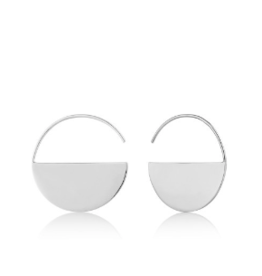 Ania Haie Geometry Hoop Earrings, silver