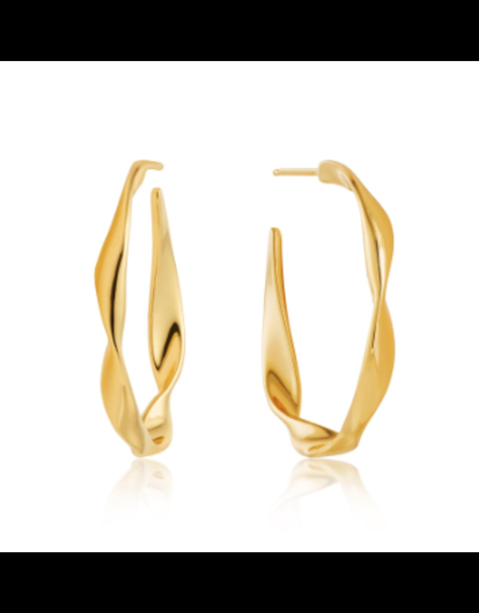 Ania Haie Twist Hoop Earrings, gold