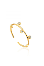 Ania Haie Shimmer Stud Adjustable Ring, gold