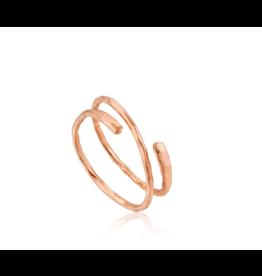 Ripple Adjustable Ring, rose gold