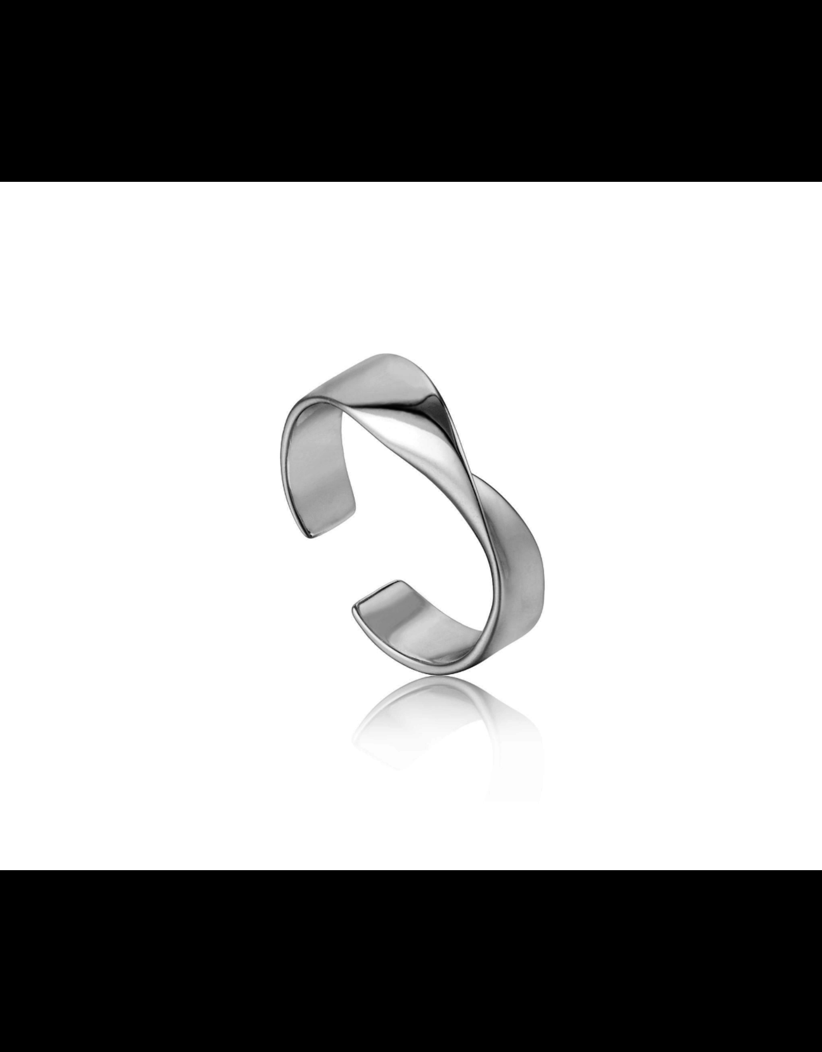 Ania Haie Helix Adjustable Ring, silver
