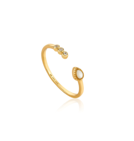 Ania Haie Dream Adjustable Ring, gold