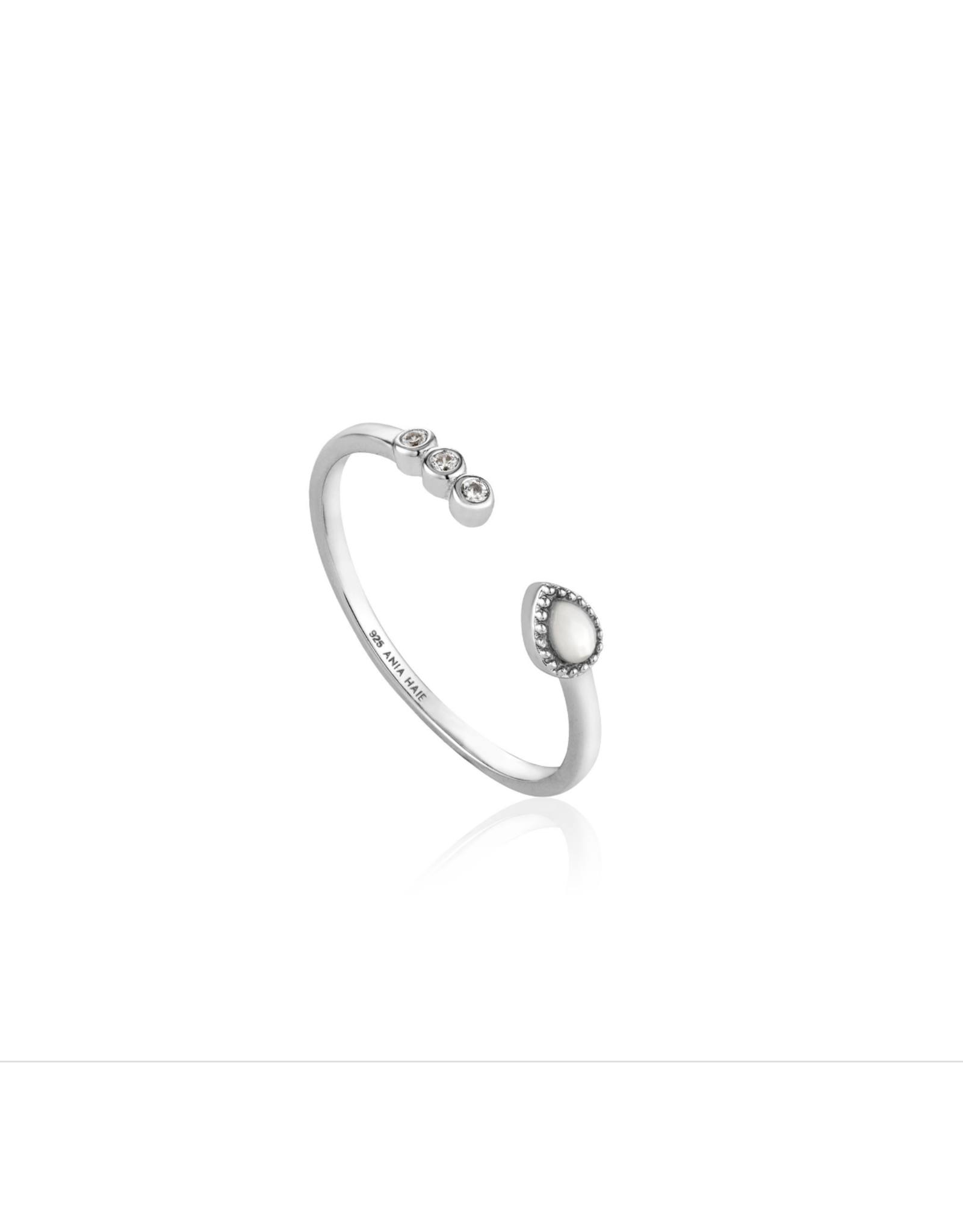 Ania Haie Dream Adjustable Ring, silver