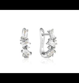 Ania Haie Cluster Huggie Earrings, silver