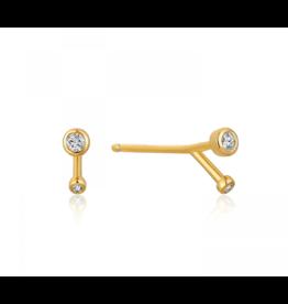 Ania Haie Shimmer Double Stud Earrings, gold