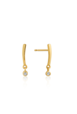 Ania Haie Shimmer Bar Stud Earrings, gold