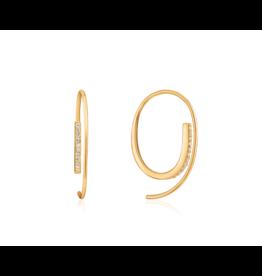 Ania Haie Twist Through Sparkle Earrings, gold