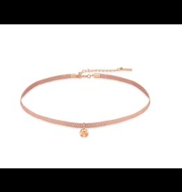 Ania Haie Ripple Ribbon Choker, rose gold