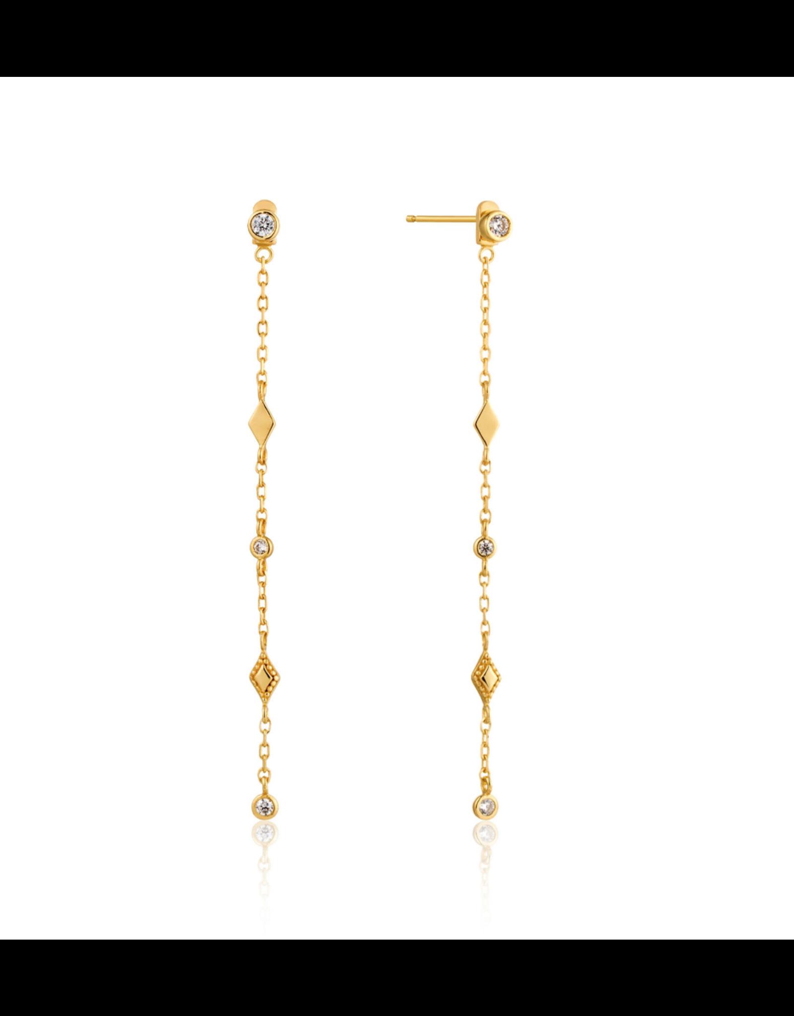 Ania Haie Bohemia Shimmer Drop Earrings, gold