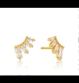 Ania Haie Glow Bar Stud Earrings, gold