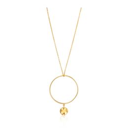 Ania Haie Double Circle Necklace, gold