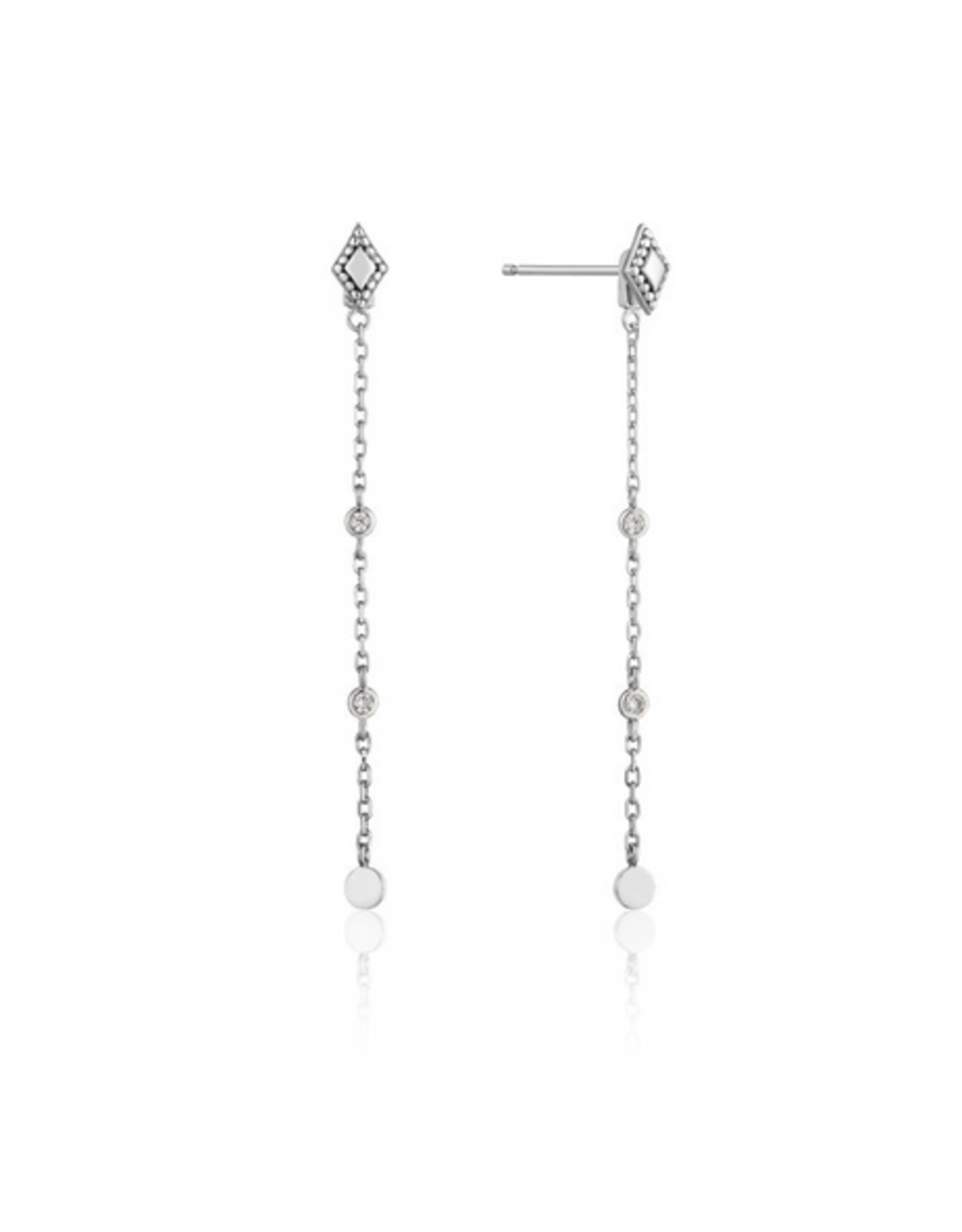 Ania Haie Bohemia Drop Earrings, silver