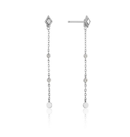Ania Haie Bohemia Drop Earrings, silver
