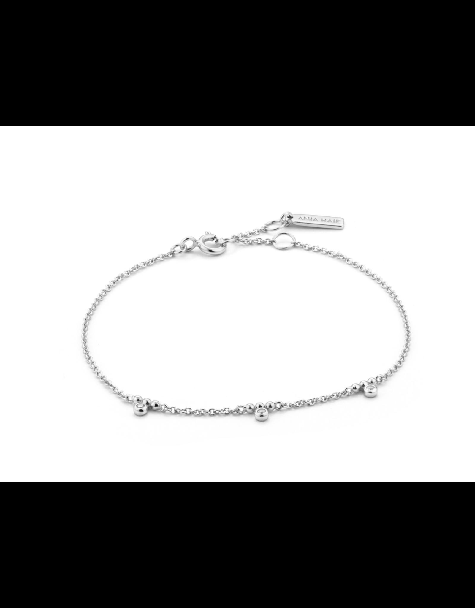 Ania Haie Shimmer Triple Stud Bracelet, silver
