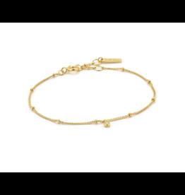 Ania Haie Shimmer Single Stud Bracelet, gold