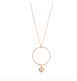 Ania Haie Ripple Circle Necklace, rose gold