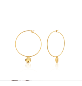 Ania Haie Ripple Hoop Earrings, gold