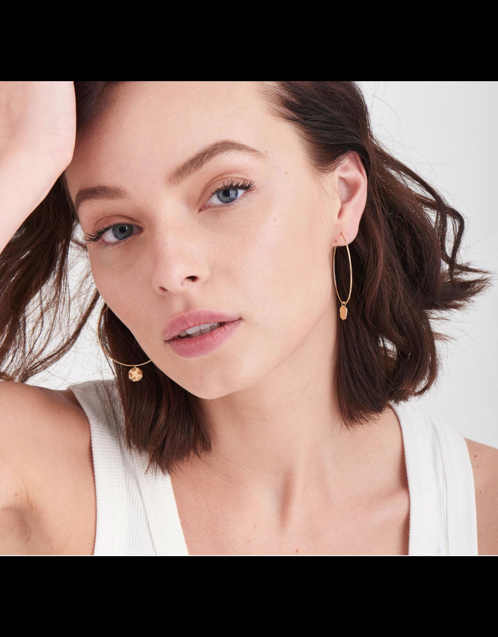 Ania Haie Spiral OvalHoop Earrings, gold