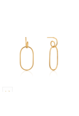 Ania Haie Spiral Oval Hoop Earrings, gold