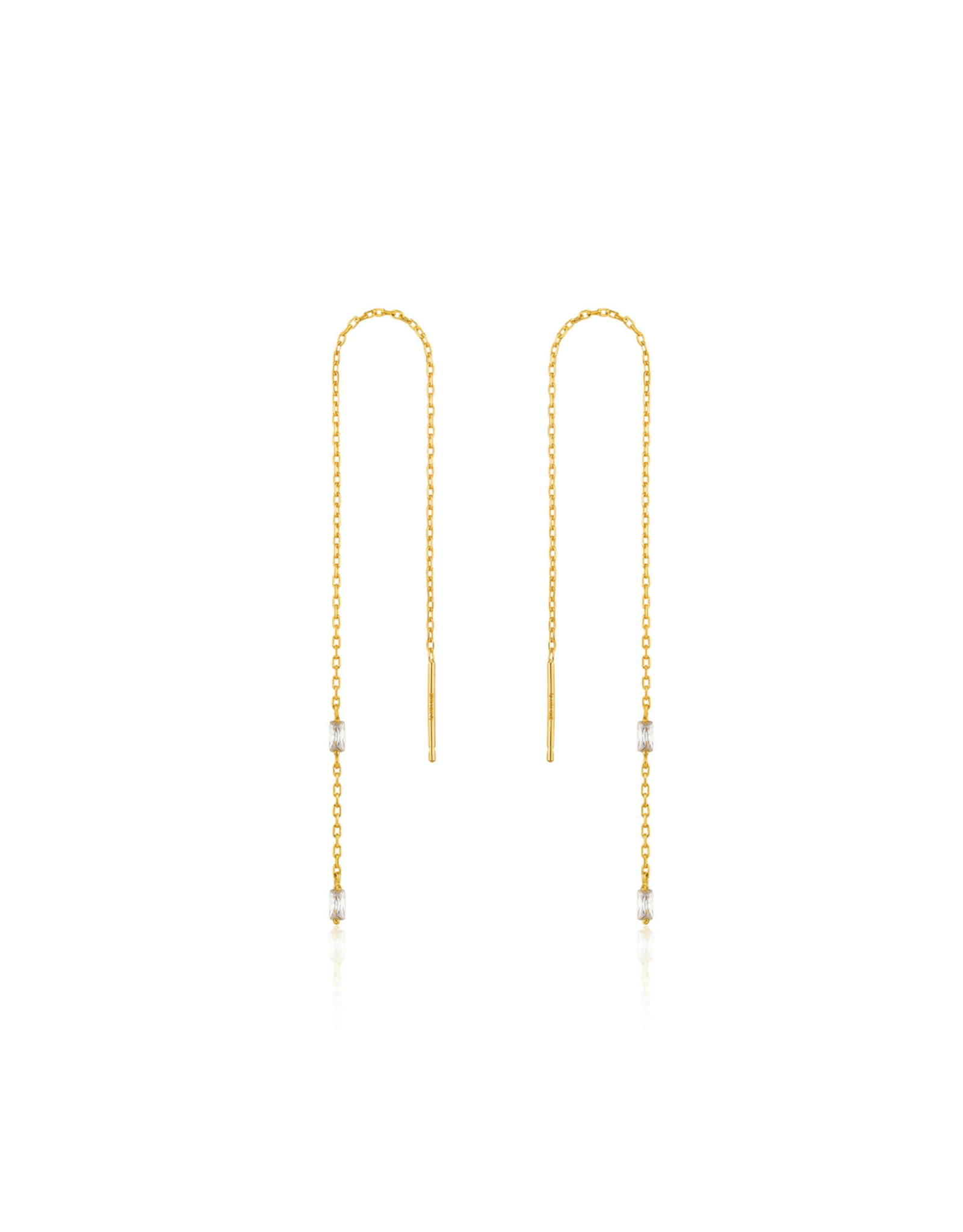Ania Haie Glow Threader Earrings, gold