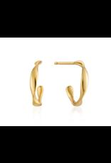 Ania Haie Twist Mini Hoop Earrings, gold