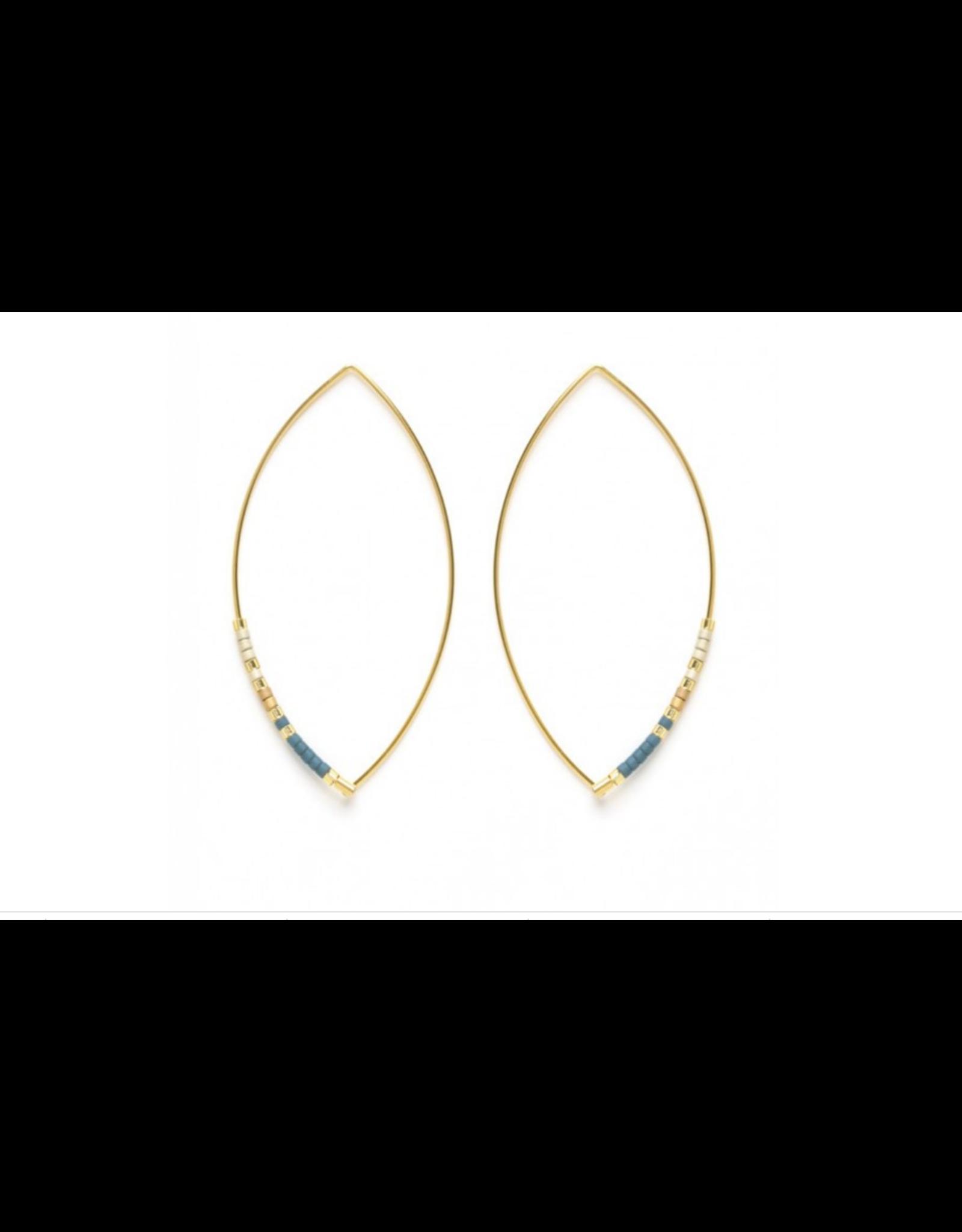 Marquise Miyuki Bead Earrings