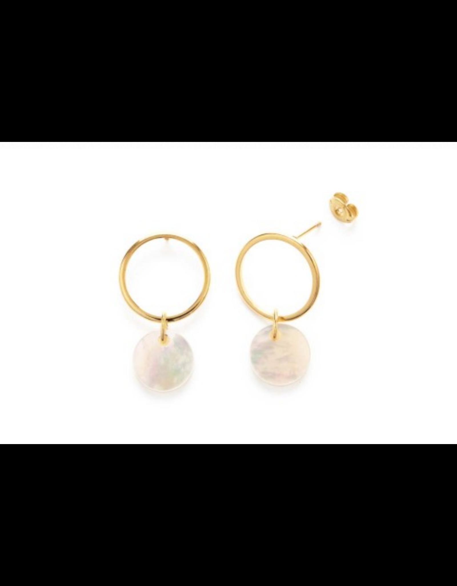 Playa Stud Earrings, mother of pearl
