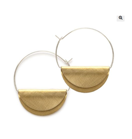 Hathor Hoops, sterling & brass