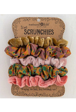 Natural LIfe Mixed Scrunchies, Set of 5, pink