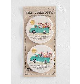 Natural LIfe Car Coaster, Set of 2, Bad Attitude