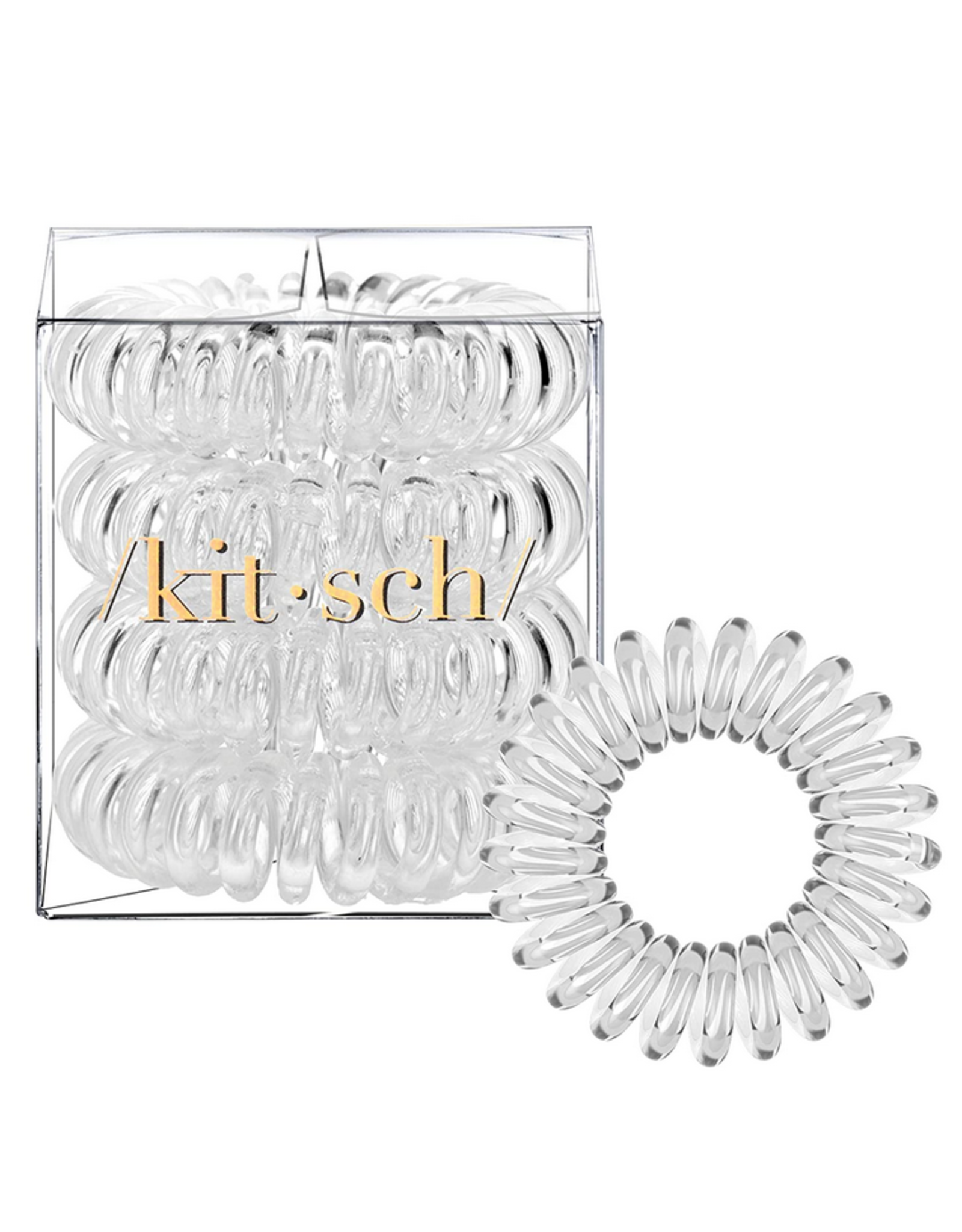 Kitsch Hair Coils 4 Pack, transparent