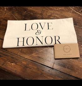 Tea Towel, Love & Honor