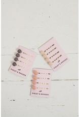 Violet & Brooks Dot Pearl Bobbie Pin Quartet, blush