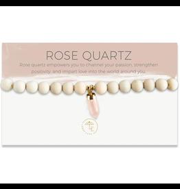L&E Berklee Stretch Bracelet, rose quartz