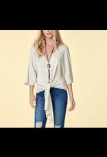 Tie-Front Short Sleeve Sweater