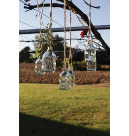 "4 1/2"" Glass Hanging Bottle"