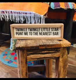 Twinkle Twinkle Little Star Box Sign