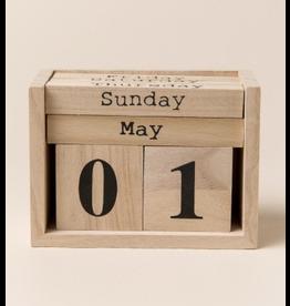 Wooden Perpetual Calendar Blocks